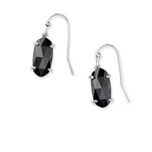 NWT Kendra Scott Lemmi Black Faceted Earrings